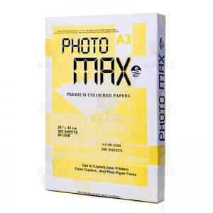 کاغذفتومکس80گرم500برگیA3 زرد